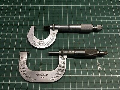 Micrometer 0-1 Inch and 1-2 Inch. Starrett No.2 And Moore and Wright No.961B