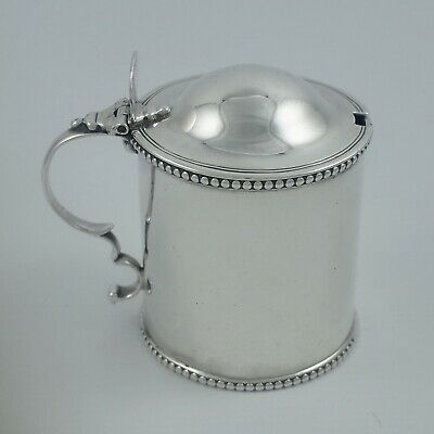 George Iii Newcastle Sterling Silver Mustard Pot - David Crawford Circa 1770