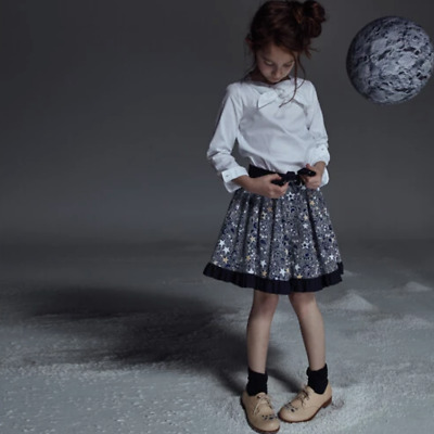 Girl's JESSIE AND JAMES Outfit Top & Skirt in 'Starry Night Lace', Age 3-4 BNWT!