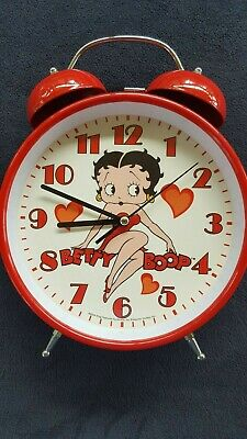 "BETTY BOOP Big 11.5"" Double Bell Alarm Clock Large Quartz C Battery 284786"