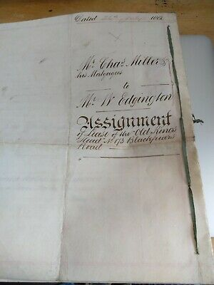 The Old Kings Head, Blackfriars Road, Antique Deed Dated 1882