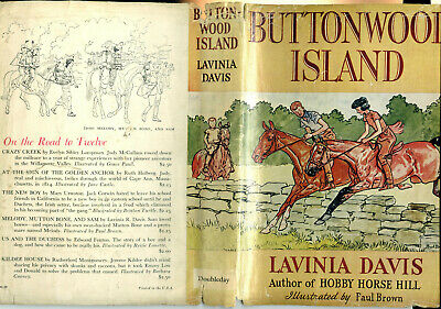 Buttonwood Island By Lavinia R. Davis -- Paul Brown Dust Jacket Only