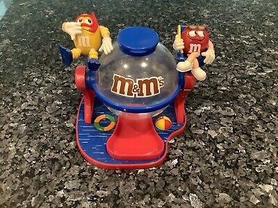 Vintage M&Ms Swimming Pool Candy Dispenser Bowl Red and Yellow Lifeguard