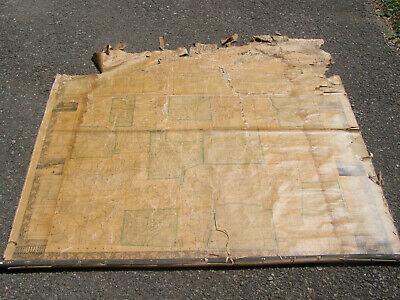 """Antique 1858 Susquehanna County Pa Map Huge Hanging 50x50"""" rough condition"""