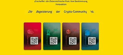 ALLE 4 Crypto Stamp 2.0 Doge, Lama, Panda & Honigdachs LIMITED EDITION