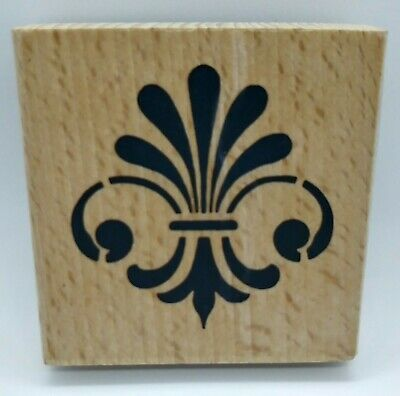 FLEUR DE LIS Rubber Stamp Whispers French Symbol Craft Wood Mounted