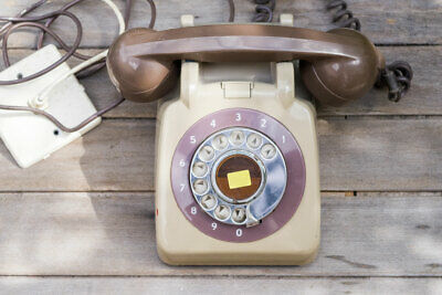 Vintage Green GPO-Type Office Dial Telephone – Taupe/Brown