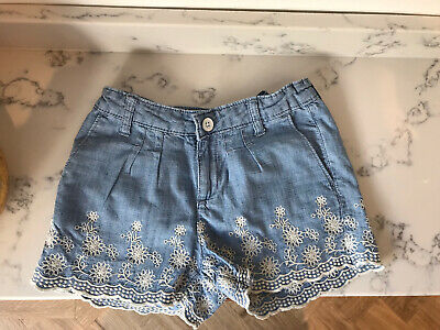 Gap Kids Girls Denim Shorts With Embroidery Age 8