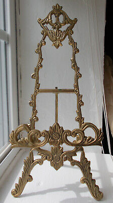 Ornate Cast Brass Picture Easel Stand