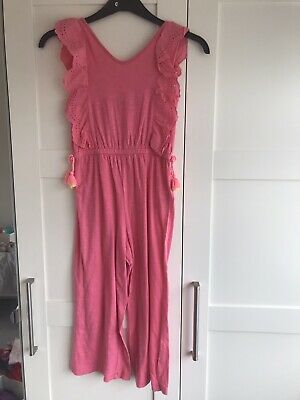 Hot Pink Girls Jump Suit Age 9-10 M&S