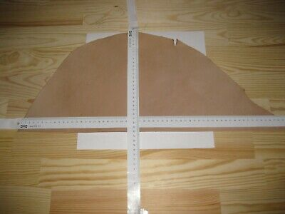 NATURAL VEG TAN CRAFT LEATHER HIDE tooling 1.85mm Thick offcut 1.2 Sq Ft.