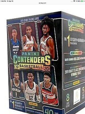 SEALED Panini 2019-20 Contenders Basketball Card Blaster Box Zion rookie Murant