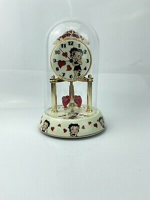 Betty Boop Porcelain Anniversary Clock with Circling Hearts- Needs New Battery