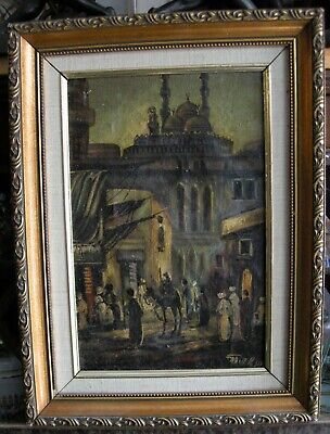 Vintage, Old, Ottoman-Istanbul - Oil on Canvas Painting, Signed