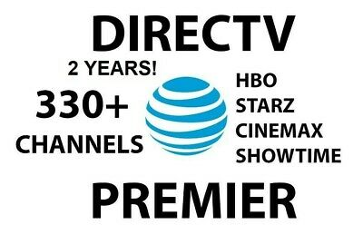 DirecTV DTV PREMIER | 330 CH | Account | HBO Showtime Cinemax Starz | TWO Years