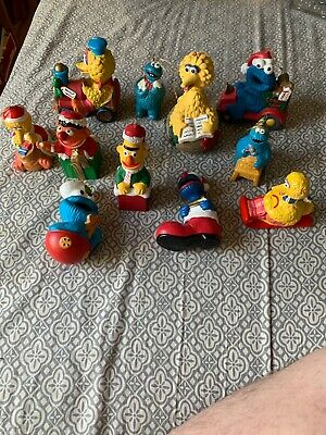 11 Different Sesame Street Christmas Ornament Vtg 1980s Jim Henson