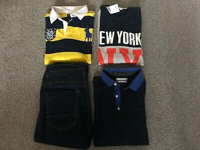 Bundle Of 4 Items Of Boys Clothes Polo Ralph Lauren Mango H&M 14-16Yrs