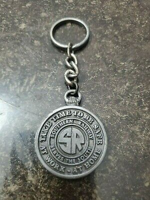 Vintage The Southern Railway Take Time To Be Safe At Home At Work Keychain