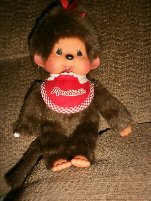 """Monchhichi Girl Doll Large Size 8"""" Inches Tall  NWOT"""
