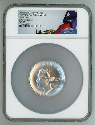 2019 P American Liberty Silver Medal 2.5 Oz .999 Ngc Sp69 First Releases 54-023