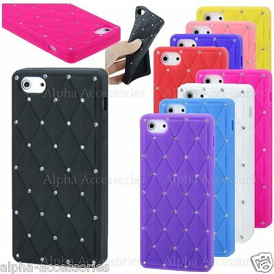 For iPhone 5S, 5, SE Case Diamond Bling Soft Slim Silicone Skin Gel Rubber Cover
