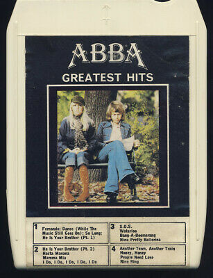 Abba Greatest Hits 8 Track Cartridge Complete With Original Box
