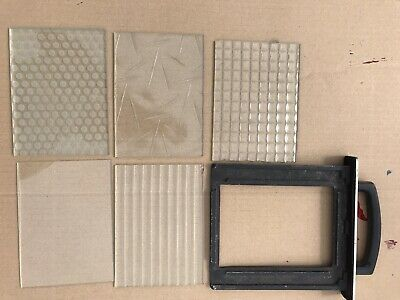 DE VERE glass filter carrier tray and glass filters x5 Darkroom