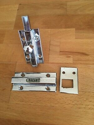 Vacant Engaged  Chrome toilet lock original 1950s