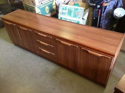 Stunning Long Low Mid-Century Retro Vintage Teak Sideboard Storage Vgc Plus!