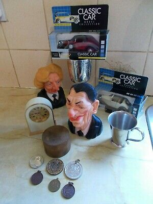Job Lot of Collectables, Silver Plate, Medals, Spitting Image