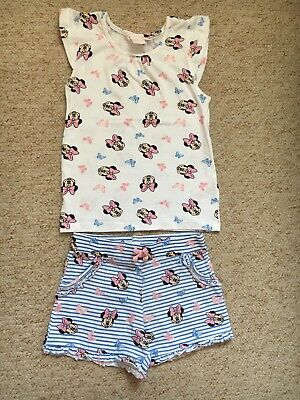 Girls Age 4-5 Minnie Mouse Set From Primark