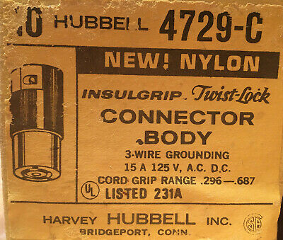 Hubbell HBL4729C Twist Lock Body Connector 10 x
