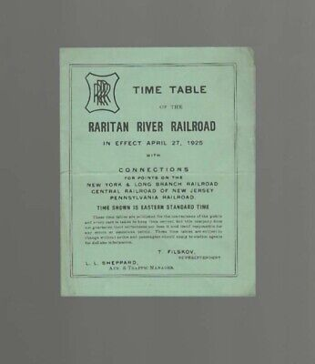 Raritan River Railroad  1925  New Jersey  Nj  Rrrr