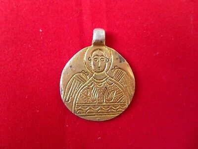 Byzantine Gilt Silver Pendant with Angel 10th-12th Century