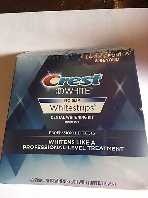 Crest 3D White Professional Effects 40 Strips 20 Treat Whitestrips SE 2019