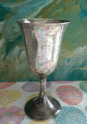 Antique Rogers Sterling Silver Water Goblet marked 210 50 / 2  ~Excellent