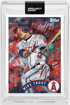 2020 Topps Project 2020 Mike Trout #35 2011 Topps Update Art Card In Hand w/ Box
