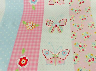 Butterfly Stripe - Pink (FABRIC CLEARANCE SALE)