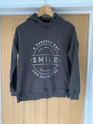 Girls Next Grey Hoodie Aged 13 Years Excellent SMILE