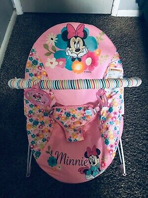 Disney Bright Starts Minie Mouse Perfect In Pink Vibrating Bouncer