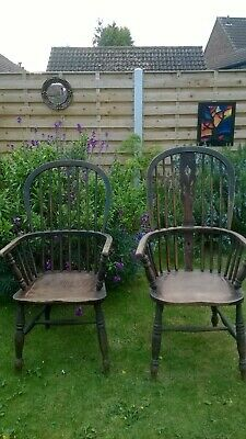 2 Antique windsor chairs unrestored