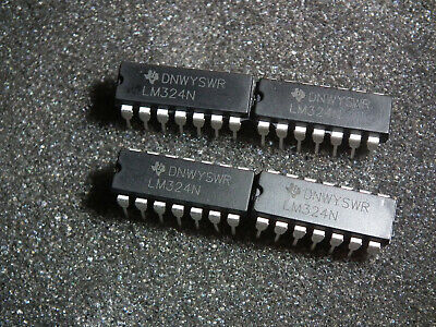 LM324N x4 DIP-14 LOW POWER QUAD OPERATIONAL AMPLIFIERS