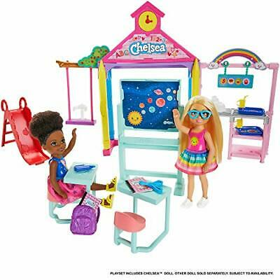 Barbie Club Chelsea Doll and School Playset Blonde, with Accessories