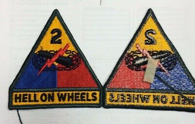 Us Army Second 2Nd Armored Division Hell On Wheels Patch #1