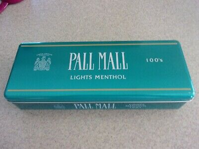 Empty Vintage Pall Mall Filter Tobacco 100's Green Storage Tin