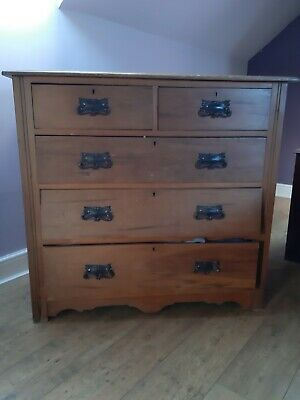 Light Mahogany Antique Chest Of Drawers