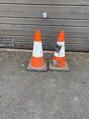 2 X Road Traffic Cones Collection Only Used For Skips