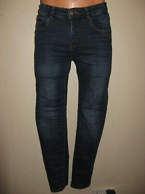 Worn Once Boys H&M Skinny Fit Skinny Leg Stonewash Stretch Blue Jeans Age 11-12