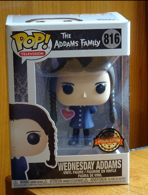 "Funko Pop! 816 Wednesday Adams EXCLUSIVE "" TO ME VALENTINE "" - The Addams Family"