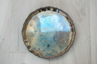 Vintage Garrard & Co.Ltd Presentation Regent Plate Tray With Ornate Border .